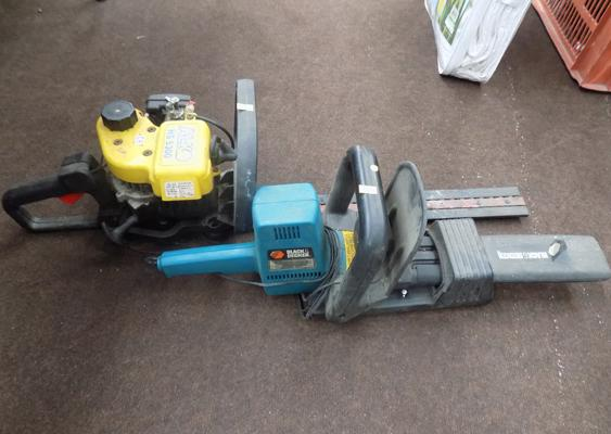 Two hedge cutters - petrol + 240V