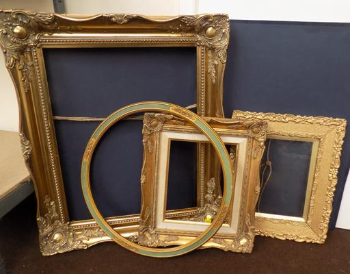 Four mixed size frames