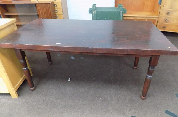 Large solid dining table