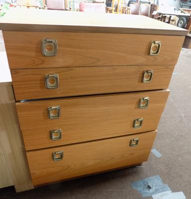 5 drawer retro chest of drawers
