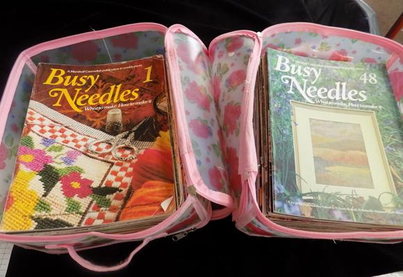 Approx 90 copies of vintage Busy Needles magazines c1970