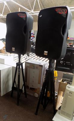 True Sonic 80w speakers with stands (£800 new)