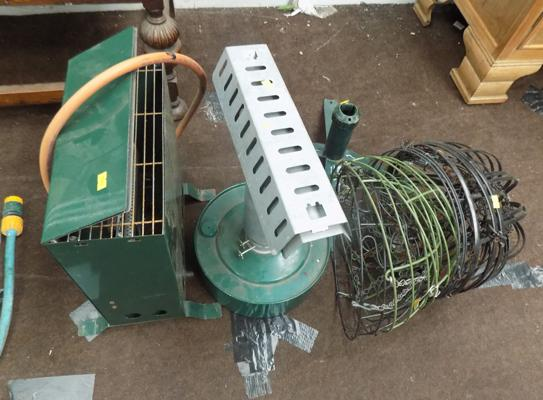 Selection of garden items, incl. paraffin heater