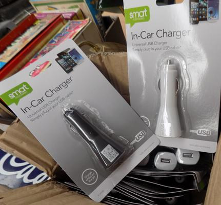 24 in-car USB chargers