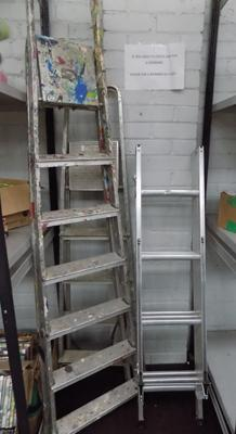 Three sets of ladders