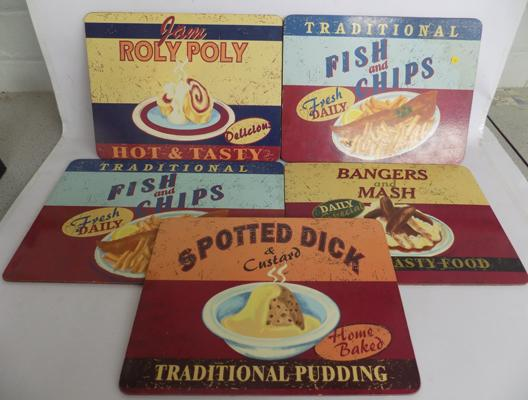 Retro set of place/table mats