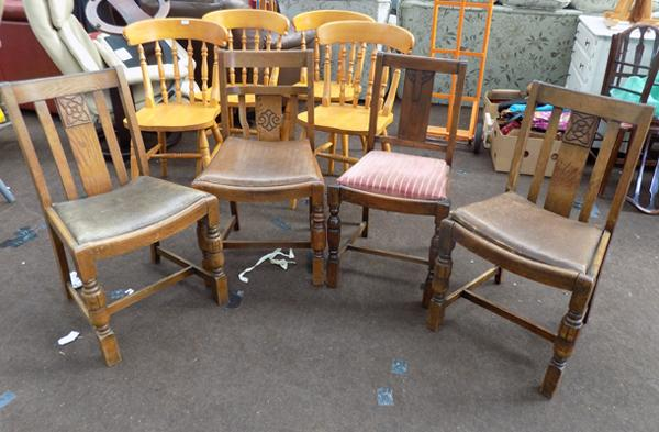 Four x 1940s/50s chairs