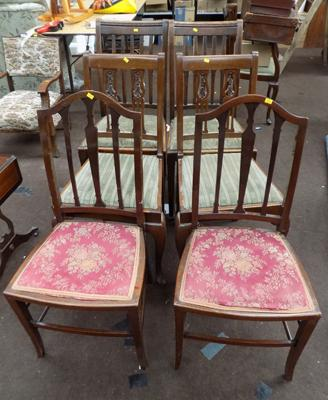 Six assorted vintage chairs