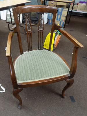 Vintage feature bedroom chair