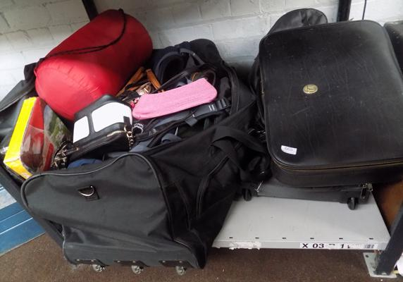 Selection of luggage bags and rucksacks