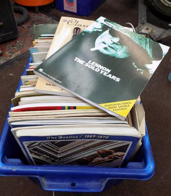 Box of song books + sheet music