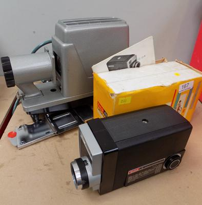 Boxed Prinz slide projector and cine camera
