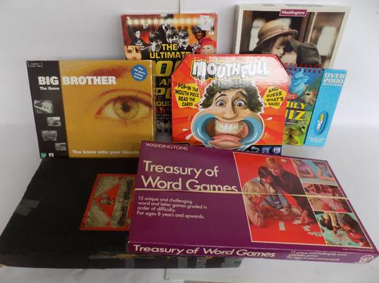 Assorted games, incl. Big Brother & vintage Monopoly