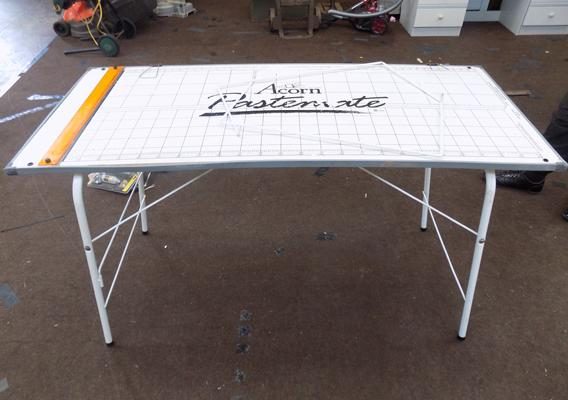 Acorn paste mate folding table - ideal for use at car boots etc...