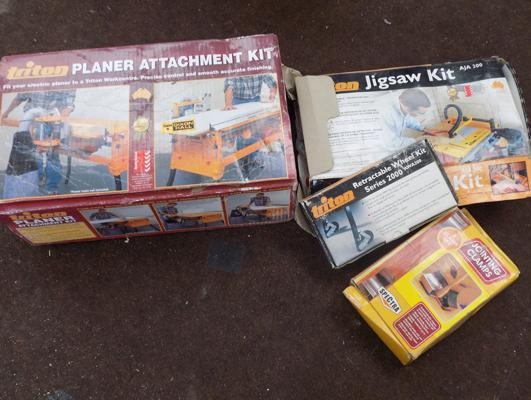 Triton planer attachment kit, jigsaw kit, clamps etc... - all boxed