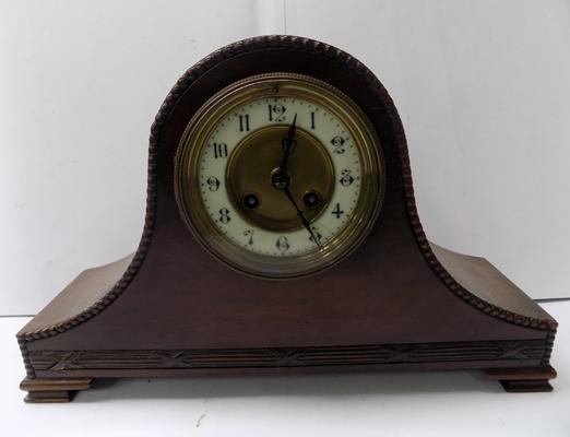 Ornate mantle clock with key