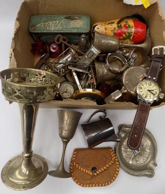 Collection of vintage collectables incl. coins, knives, lighters etc.