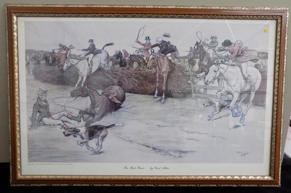 "The First Fence Cecil Aldin - lovely print - 34"" x 22"""