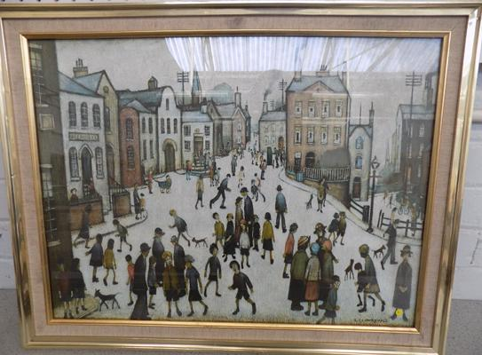 LS Lowry 1930 picture-crack to glass