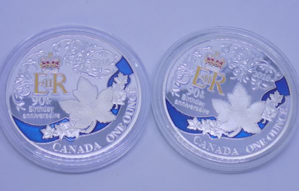 Two x Canadian 1oz coins