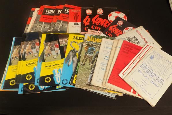 Selection of Football programmes incl. vintage, Lincoln, Scunthorpe, Forest, Leeds etc.