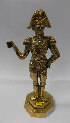 Large brass Napoleon figure on brass base -  approx. 15""