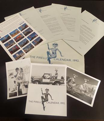 Vintage Pirelli calendar 1992 folder with  behind the scenes cards