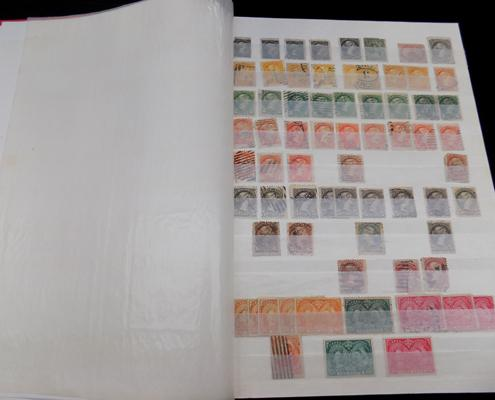 Stockbook of early Canadian stamps - Queen Victoria etc.