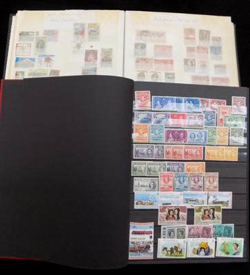 2 albums of commonwealth stamps etc.
