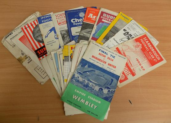 Collection of over 20 vintage football programmes
