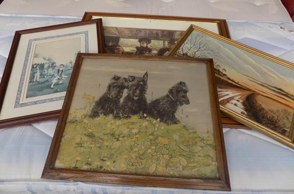 Selection of four framed prints + paintings