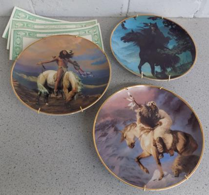 Three 'Spirit of the North Wind' collector's plates