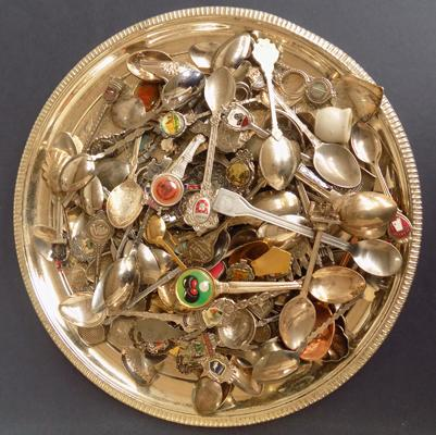 Tray of collectable spoons