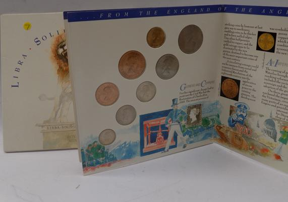 Royal mint English Solidus coin set 1965-1967