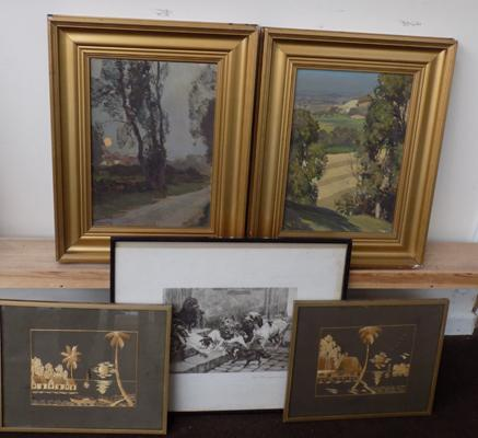 Selection of framed pictures inc 2 oils