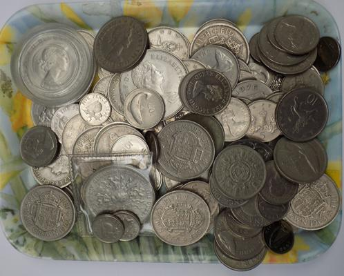 Silver coloured coins - job lot