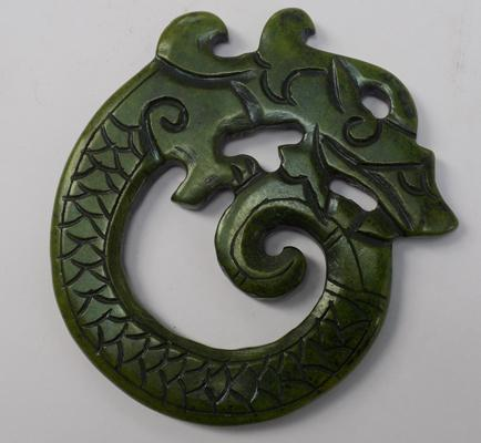 Chinese hand carved jade dragon