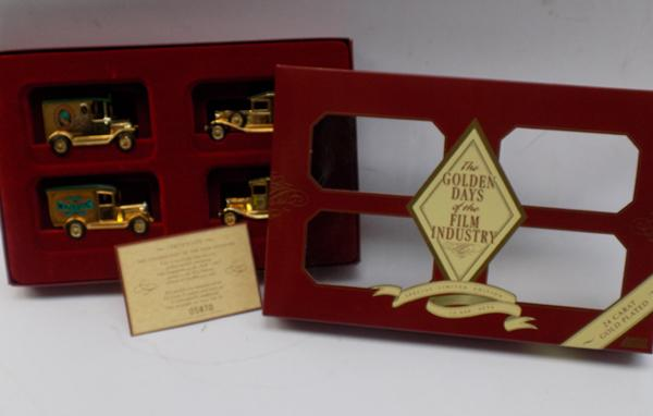 Special Ltd Edition Golden Days of the film industry, 24ct gold plated Lledo box set