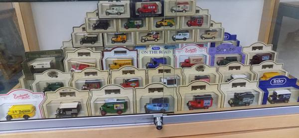 Box of 53 Days Gone model cars