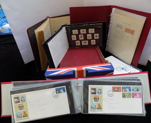 8 stamp albums in box
