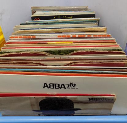 2x Boxes of mixed vinyl records