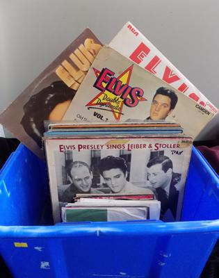 Collection of Elvis records LP's & singles