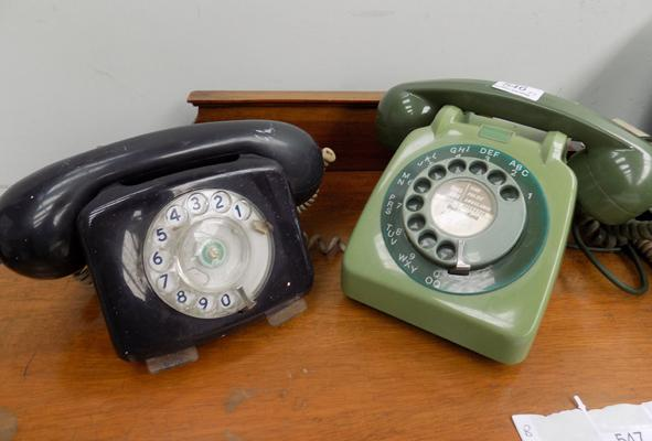 Light green GPO phone + 1 other