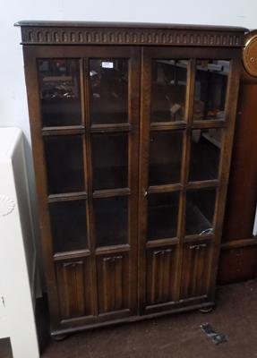 Priory glass fronted bookcase
