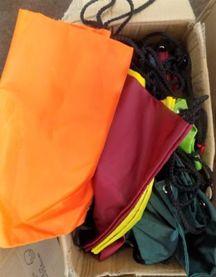 Large box of new pump bags/swimming bags