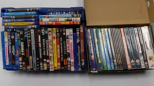 2 boxes of DVD's