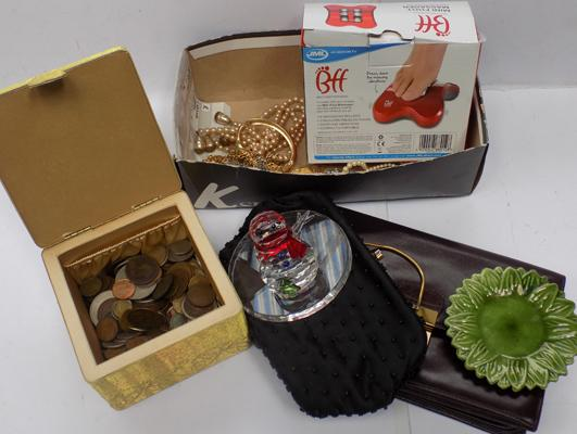 Mixed collectables incl. coins, cosume jewellery and other items