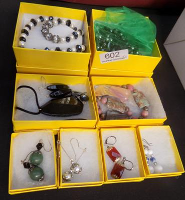 8x Boxed sets of hand made jewellery