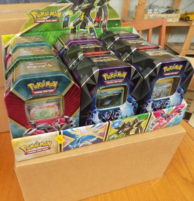Pokemon tins with cards-3x starter packs