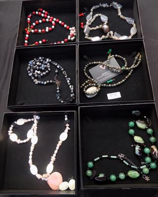 6x Boxed sets of hand made jewellery